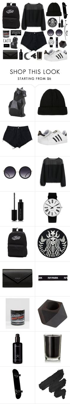 """""""black aesthetic"""" by falselycathartic ❤ liked on Polyvore featuring Hot Topic, adidas, Alice + Olivia, Chicwish, Marc Jacobs, Rosendahl, Vans, Balenciaga, Ivy Park and Manic Panic NYC"""