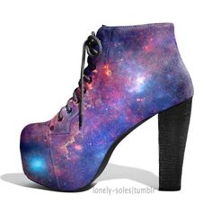 I'm not much of a heel person. But love the galaxy pattern
