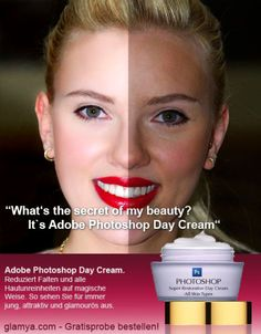 adobe photoshop retouching after before photos day cream