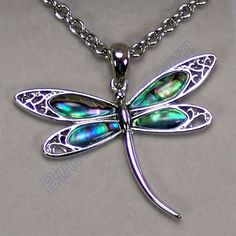 Beautiful abalone shell dragonfly necklace set in silver. Dragonfly Necklace, Dragonfly Art, Dragonfly Tattoo, Necklace Set, Dragonfly Pendant, Butterfly Pendant, Wire Jewelry, Jewelry Box, Jewelry Accessories