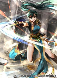 Lyndis, Lord of Caelin and granddaughter of Marquess Haussen (fire emblem) Fire Emblem Awakening, Fire Emblem Lyn, Fire Emblem Radiant Dawn, Systems Art, My Hero Academia Tsuyu, Fan Anime, Fire Emblem Characters, Super Smash Bros, Anime Art Girl