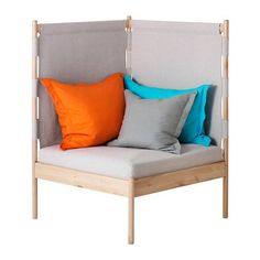 Consider this a fix for those awkward nooks and corners! The IKEA PS 2014 corner chair can easily fit within a variety of spaces and comes in an understated finish made to be decked with colorful throw pillows.