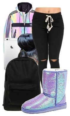 """"""""""" by honey-cocaine1972 ❤ liked on Polyvore featuring adidas, Herschel and UGG Australia"""