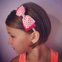 Little girl short pixie hair cut