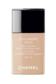Chanel Vitalumiere Aqua ultra-light skin perfecting sunscreen makeup !!!! I love it