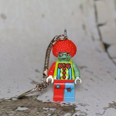 Zombie Clown LEGO key chain by boxhounds on Etsy, $10.00