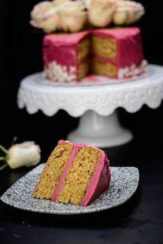 Here's a recipe created from two of my favorite teas: an egg free earl grey sponge cake made with Earl grey tea and a creamy hibiscus tea (sorrel/zobo) frosting all in one cake!