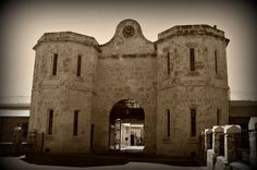 The main gate house at Fremantle Prison. 1855-1990 Photograph by Beverley Thompson