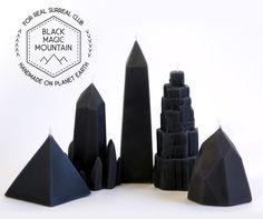 Black Cedar Wood scented Black Magic by ForRealSurrealClub on Etsy