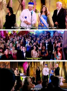 """When Andy was crowned king. 