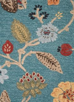 Floral Rug by Jaipur - Blue Garden Party BL131 - NW Rugs