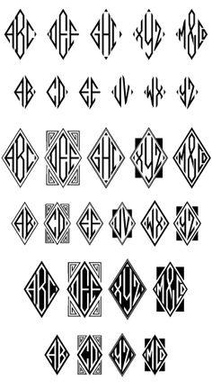 moissanite monogram Monogram Design, Monogram Fonts, Monogram Letters, Tattoo Lettering Fonts, Typography Fonts, Alphabet Signs, Art Deco Font, Ink Pen Art, Branding Design