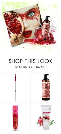 """Pomegranate"" by screaming-soul ❤ liked on Polyvore featuring beauty, Post-It, Barry M and Jeffree Star"