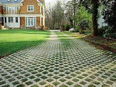 Permeable pavers. This is the most organic and most permeable- There are other products that get closer and closer to what we all know as asphalt and concrete, BUT these all allow water to soak into the ground below naturally rather than be washed into a storm gutter, collecting all the debris and streamlining into creeks and water supplies.
