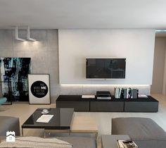 Dom jednorodzinny w Lublińcu - Salon, styl nowoczesny - zdjęcie od A2 STUDIO pracownia architektury
