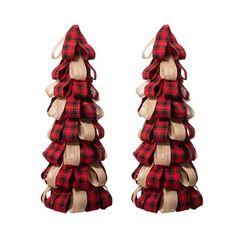 Tabletop Christmas Tree, Country Christmas Decorations, Burlap Christmas, Christmas Holidays, Christmas Trees, Christmas Crafts, Christmas Stuff, Cabin Christmas, Christmas Ornaments