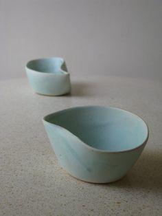 Set of two turquiose Ceramic Bowls by SimoneCeramics on Etsy, $50.00