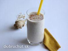 Hruškový smoothie so zázvorom a ovsenými vločkami Fruit Juice, Glass Of Milk, Smoothies, Food And Drink, Fresh, Drinks, Recipes, Juices, Gardening