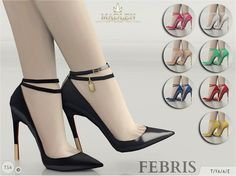 Madlen Febris Shoes by MJ95 at TSR • Sims 4 Updates