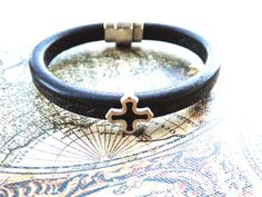 Leather Bracelet for Men  Made with Genuine by NowAndEverGifts
