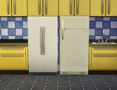 My Sims 4 Blog: Cabinet-compatible fridges by plasticbox