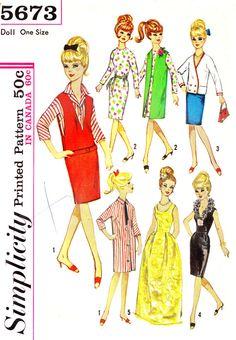 1960s Barbie Doll Wardrobe Vintage Sewing