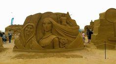 Pocahontas Disney Sand Sculpture, Sand Sculpture Festival Ostend Belgium