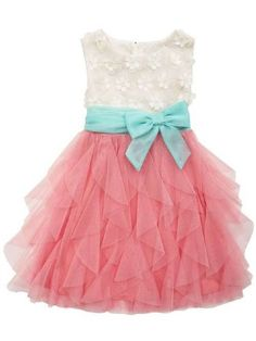 2015 Easter Ruffles Big Bow Dress 4 to 16 Years Now In Stock!