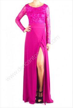 VESTIDO CUERPO BLONDA COMBINADO LISO www.dencantoonline.com Formal Dresses, Fashion, Doilies, Long Gowns, Store, Dresses For Formal, Moda, Formal Gowns, Fashion Styles