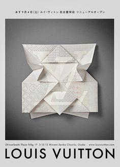 Louis Vuitton — Invitation Origami | Happycentro  http://www.creativeboysclub.com/wall/creative