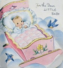 ❤️Vintage Baby Shower Card ~ 1958