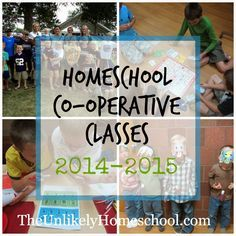 "Homeschool Co-op Class Plans 2014-2015 {The Unlikely Homeschool}.  I share a few of my counter-cultural ideas about ""shyness"" and how I will incorporate my beliefs into a public speaking class for kids...as well as ideas for four other co-op class offerings we'll be doing this year."