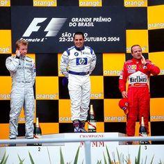 Kimi Raikkonen, Juan Pablo Montoya and Rubens Barrichello - Brazil - 2004