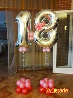 Mylar balloon numbers for 18th birthday