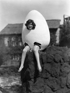 Which came first? The lady or the egg? lol.