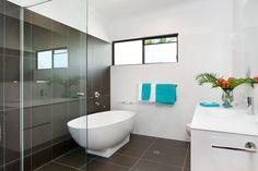 Clean lines, create a peaceful bathroom feel in this beach house in Beach Clean Lines, Beach House, Sunshine, Castle, Bathroom, Create, Beach Homes, Washroom, Full Bath