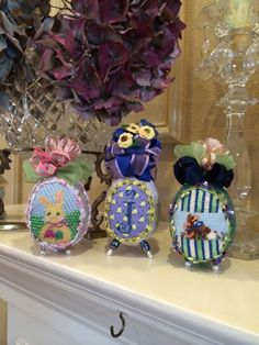 Needlepoint Eggs and more eggs...various needlepoint artists.