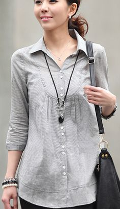 Thin sleeve long paragraph shirt