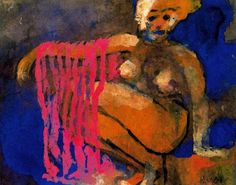 Emil Nolde (1867-1956), Crouching Nude