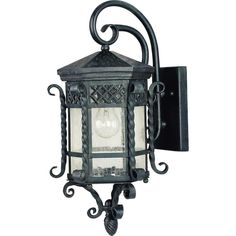 Spanish outdoor hand forged wrought iron outdoor lighting scottsdale 1 light country forge outdoor wall mount aloadofball Images