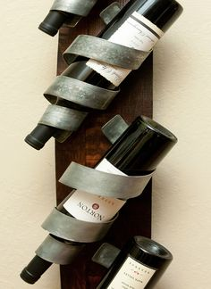 Chris's Curls Wall-Mounted Wine Rack
