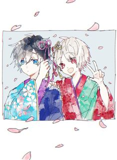 Soraru x Mafumafu All Anime, Anime Guys, Manga Anime, Anime Art, Vocaloid, Chibi, Fanart, Natsume Yuujinchou, Manhwa