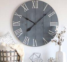 big farmhouse wall clock