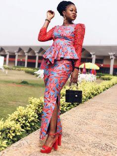 Look de fêtes 1 sapé comme jamais en Wax African Fashion Designers, African Fashion Ankara, Ghanaian Fashion, Latest African Fashion Dresses, African Print Dresses, African Print Fashion, African Dress, African Prints, African Attire