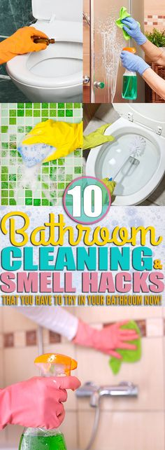 If you're looking for ways to clean your, toilet, shower, and everything else in your bathroom then you need to check out these bathroom cleaning tips. I learned how to clean my bathroom and make my bathroom smell AMAZING from the cleaning hacks and smell hacks in this post! Make your bathroom clean and smell amazing with the cleaning tips from this post! You have to try them.