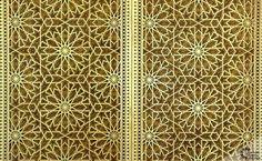 Luxury carved wood Arabic gate for residency. Moroccan doors. | Carved Wood Ceilings