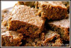 Grain-Free [Paleo] Gingerbread. Ingredients: eggs, molasses, coconut oil, vanilla, baking soda+powder, spices and almond flour.  #grainfree #glutenfree #refinedsugarfree