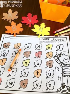 Fall FREEBIE! Spice up you alphabet center with this freebie. Just add leaves. Perfect for preK or Kindergarten during the fall months.