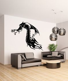 Vinyl Wall Decal Sticker Tribal Dragon #OS_AA531 | Stickerbrand wall art decals, wall graphics and wall murals.