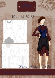 Dark Mori vestido patron tallas 38-42 customizado de AbelisFashion en Etsy